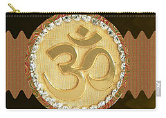 Om Mantra Ommantra Hinduism Symbol Sound Chant Religion Religious Genesis Temple Veda Gita Tantra Ya Carry-all Pouch by Navin Joshi