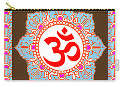 Carry-all Pouch featuring the photograph Om Mantra Ommantra by Navin Joshi