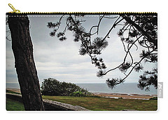 Omaha Beach Under Trees Carry-all Pouch by Joan  Minchak