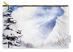 Carry-all Pouch featuring the painting O'malley Peak by Teresa Ascone