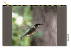 Hummingbird On A Mission Carry-all Pouch by Belinda Lee