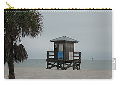 Carry-all Pouch featuring the photograph No Lifeguard On Duty by Christiane Schulze Art And Photography