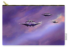 Carry-all Pouch featuring the painting Sky  Patrol by Hartmut Jager