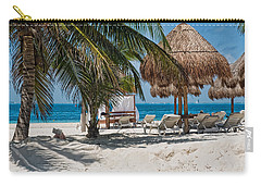 White Sandy Beach In Isla Mujeres Carry-all Pouch