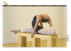 Practicing Ballet On The Bench Carry-all Pouch