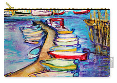 On The Boardwalk Carry-all Pouch by Helena Bebirian