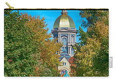 On The Campus Of The University Of Notre Dame Carry-all Pouch by Mountain Dreams
