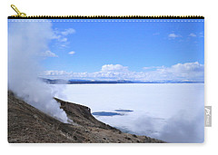 Carry-all Pouch featuring the photograph On The Edge Of Lake Yellowstone by Michele Myers