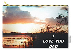 Lake Deer At Sunrise Carry-all Pouch by Belinda Lee