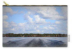 Carry-all Pouch featuring the photograph On The Lake by Debra Forand