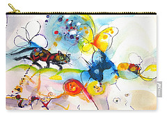 On The Prowl Carry-all Pouch by Mary Armstrong