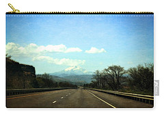 On The Road To Mount Hood Carry-all Pouch by Michelle Calkins