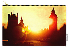 Carry-all Pouch featuring the digital art Big Ben On The Thames by Fine Art By Andrew David