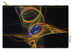 Carry-all Pouch featuring the digital art On The Way To Oz by Victoria Harrington