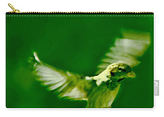 On The Wings Of A Bird Carry-all Pouch by Carol F Austin