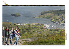 Carry-all Pouch featuring the photograph On Top Of Mount Battie by Daniel Hebard