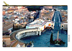 Carry-all Pouch featuring the digital art On Top Of Vatican 1 by Brian Reaves