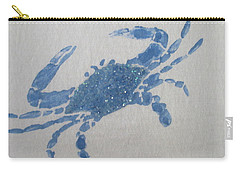 One Blue Crab On Sand Carry-all Pouch