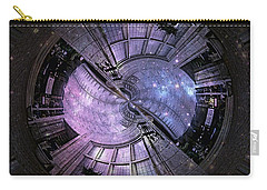 One Bulb Out In A Swirl With A Galaxy Carry-all Pouch