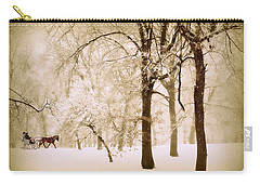 One Horse Open Sleigh Carry-all Pouch by Jessica Jenney