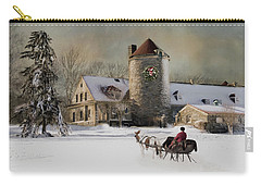 One Horse Open Sleigh Carry-all Pouch by Robin-Lee Vieira
