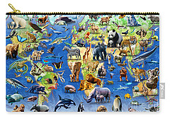 One Hundred Endangered Species Carry-all Pouch by Adrian Chesterman