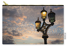 One Light Out - Westminster Bridge Streetlights - River Thames In London Uk Carry-all Pouch by Georgia Mizuleva