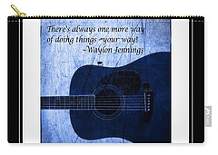 One More Way - Waylon Jennings Carry-all Pouch