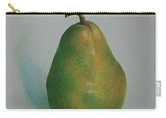 Carry-all Pouch featuring the painting One Of A Pear by Pamela Clements