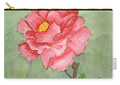 One Rose Carry-all Pouch by Pamela  Meredith