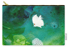 One White Carry-all Pouch by Joan Hartenstein