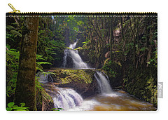 Carry-all Pouch featuring the photograph Onomea Falls by Jim Thompson
