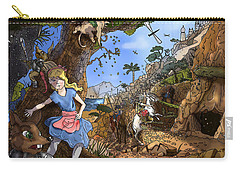 Carry-all Pouch featuring the painting Open Sesame by Reynold Jay