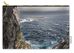 A Natural Window In Minorca North Coast Discover Us An Impressive View Of Sea And Sky - Open Window Carry-all Pouch by Pedro Cardona