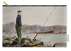Carry-all Pouch featuring the painting Opening Day by John Williams