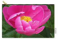 Carry-all Pouch featuring the photograph Peony  by Eunice Miller