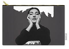 Opera Singer Maria Callas Cecil Beaton Photo No Date-2010 Carry-all Pouch by David Lee Guss