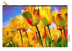 Carry-all Pouch featuring the digital art Optimism by Pennie  McCracken