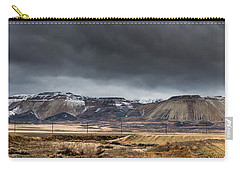 Oquirrh Mountains Winter Storm Panorama 2 - Utah Carry-all Pouch by Gary Whitton