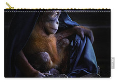 Orang Utan Youngster With Blanket Carry-all Pouch