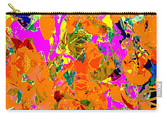 Orange Abstract Carry-all Pouch by Barbara Moignard