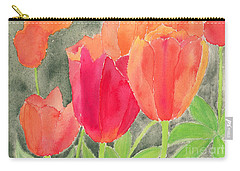 Orange And Red Tulips Carry-all Pouch
