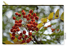 Orange Autumn Berries Carry-all Pouch