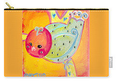 Orange Birdy Carry-all Pouch