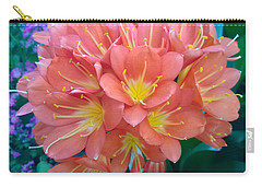Orange Bouquet Carry-all Pouch by Claudia Goodell