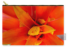 Carry-all Pouch featuring the photograph Orange Bromeliad by Lehua Pekelo-Stearns