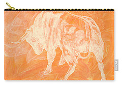 Orange Bull Negative Carry-all Pouch
