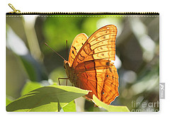 Orange Butterfly Carry-all Pouch by Jola Martysz