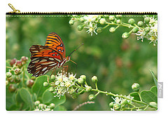 Carry-all Pouch featuring the photograph Orange Butterfly by Marcia Socolik