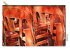 Orange Chairs Carry-all Pouch